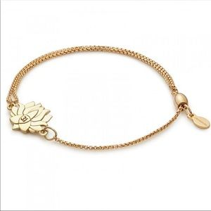 NEW Alex and Ani Lotus Pull Chain Bracelet